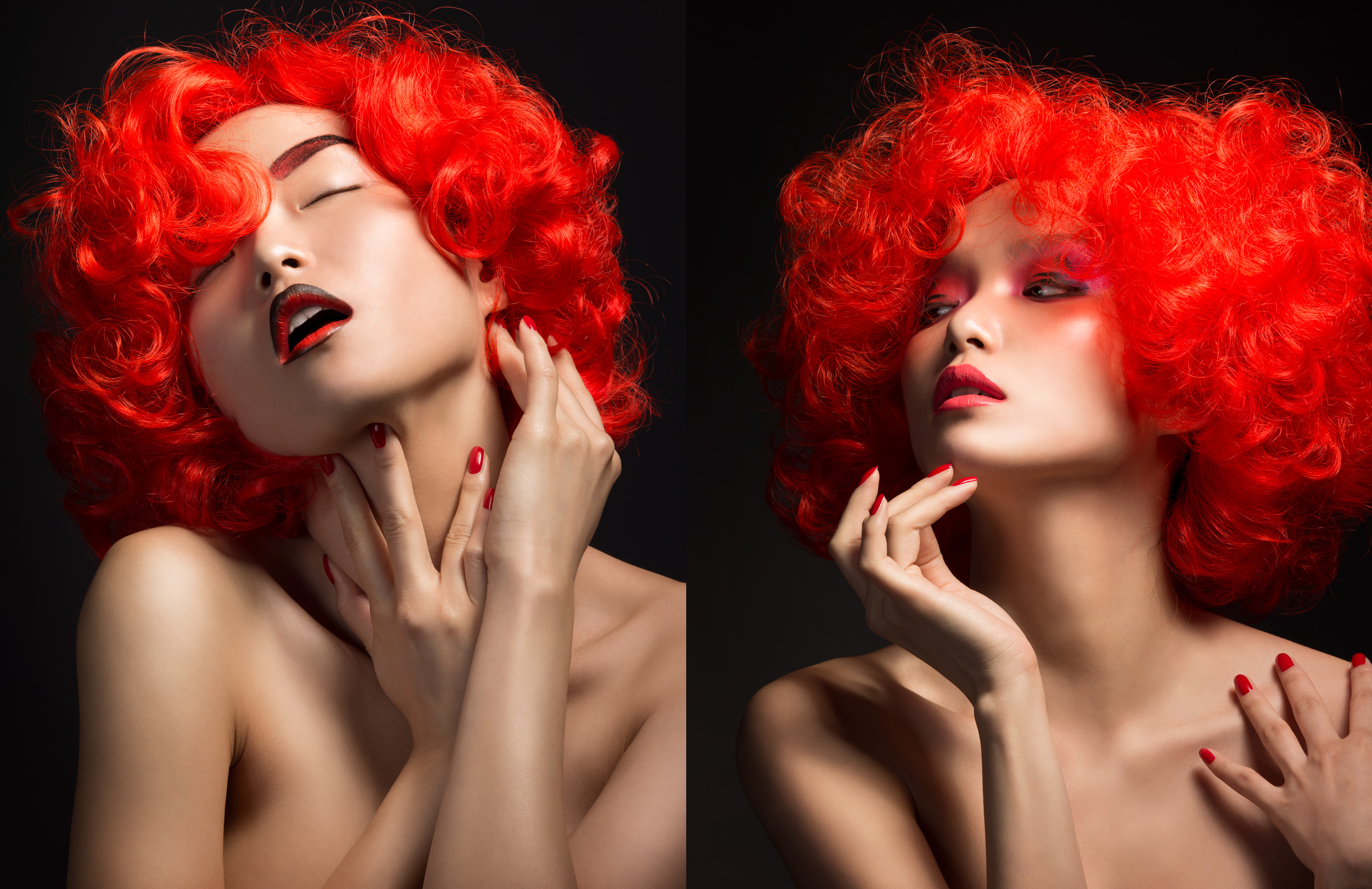 Musilek-Stan-Dior-Red-Hair-Lips-Asian-Model-Fashion-Photographer-Advertising